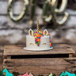 Loved making this adorable Unicorn cake!