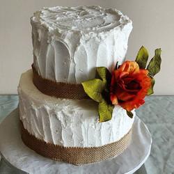 Pretty little buttercream wedding cake ❤