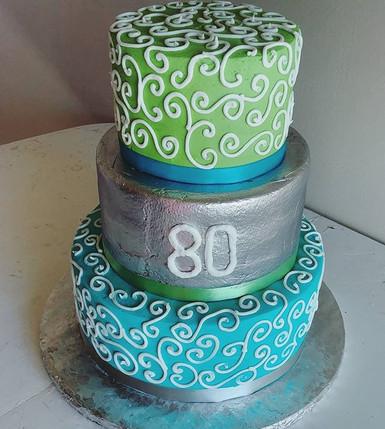 All buttercream cake for a precious 80th