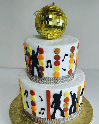Loved making this Groovy Disco cake! 😍