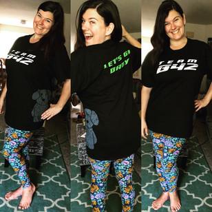 Diva rocking the Team B42 shirt