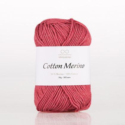 Cotton Merino RASPERRY RED MELERT