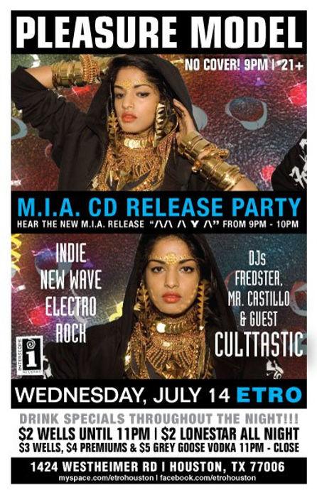 Culttastic at M.I.A. CD Release Party, Interscope Records