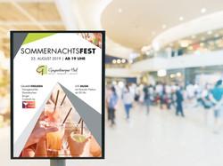 A3 Eventplakat Sommernachtsfest