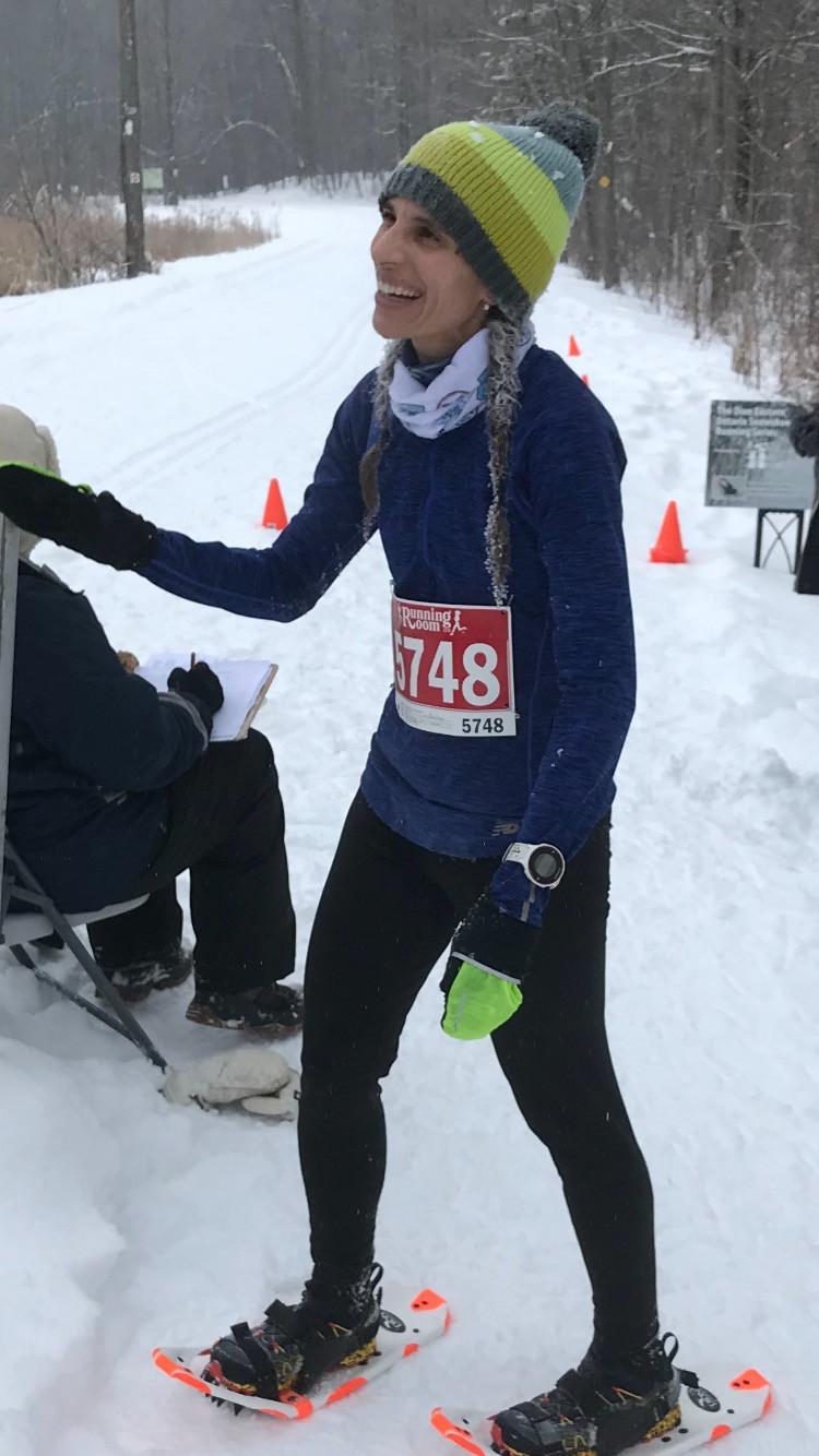 Womans race winner Lisa Leskien
