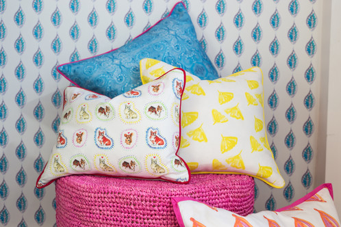 Decorative Throw Pillows Custom Made To Order In The Mira Jean Textile Design Of Your Choice Choose From Our Summer Coastal Kids And Fern Collections