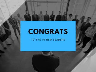Congratulations to 10 New Leaders on completing their Leadership MVP