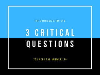 You Need to Know The Answers to these 3 Critical Questions
