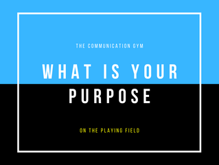 What is your Purpose on the Playing Field?