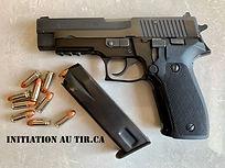 SIG P226 Initiation au tir, essai de tir, Tir pistolet, cour de tir,Tir à la cible, Terrebonne, Grand Montréal, Québec