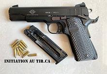 1911A1 Cal22 Initiation au tir, essai de tir, Tir pistolet, cour de tir,Tir à la cible, Terrebonne, Grand Montréal, Québec