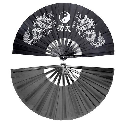 Bamboo KungFu Fan - Black
