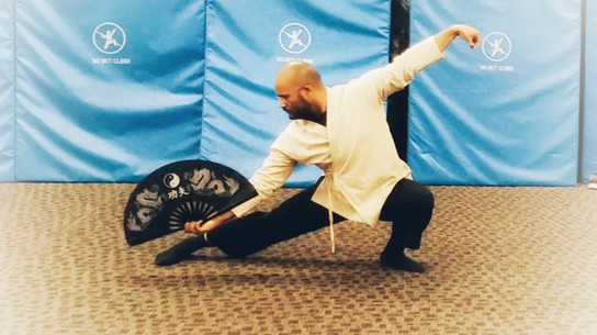 Tai Chi fan demonstration for my student