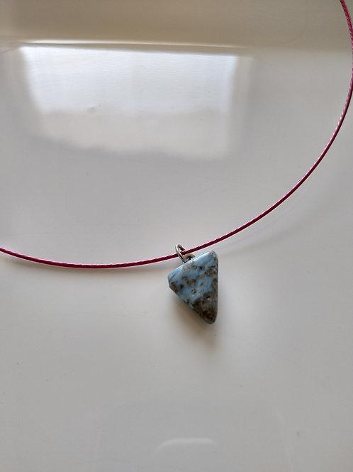 Jasper Choker Necklace on Flexible Wire