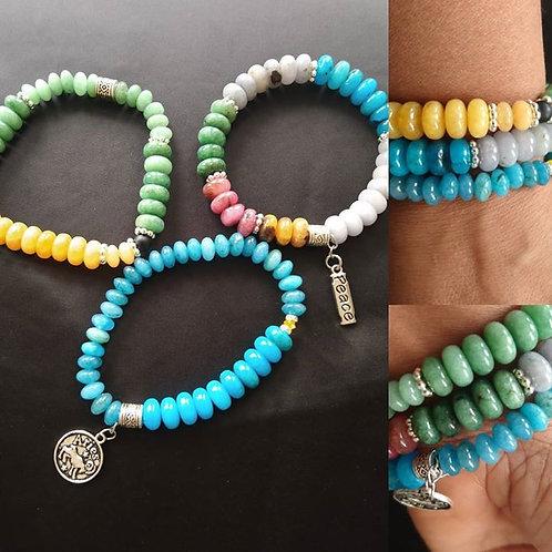 Colorful Courageous Aries Bracelet set
