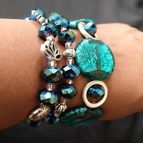 Midnight Green Bracelet set