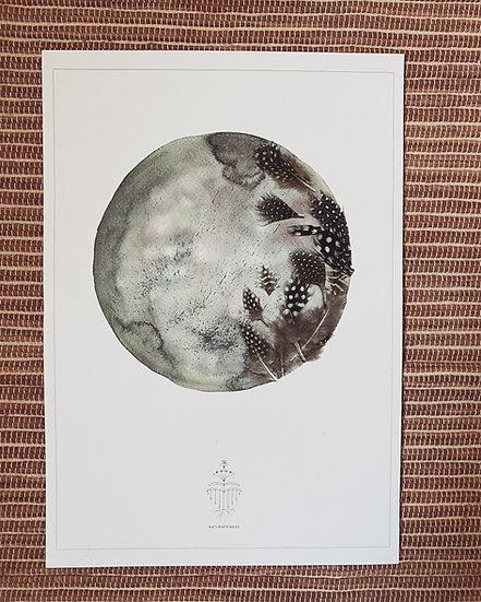Aquarelle de nouvelle lune