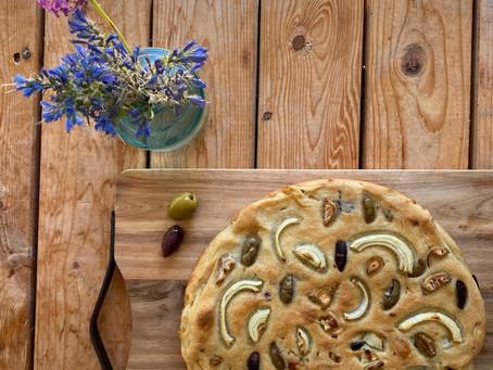 Pain à l'oignon et à l'huile d'olive