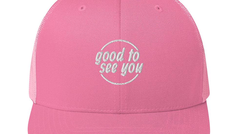 Pink Trucker Hat Piece
