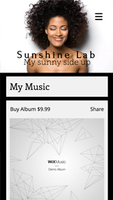 Solo Artist website templates – My Music Page