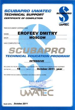 Сертификат Scubapro