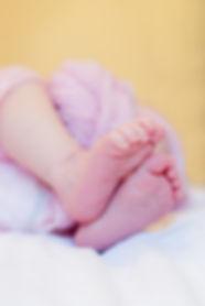 Baby feet reflexology