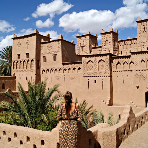 Morocco desert beauty, dunes and Kasbahs