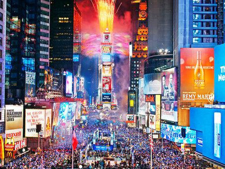 New York City's hotspots and New Years Eve
