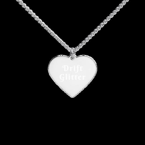 Drift Glitter Heart Necklace