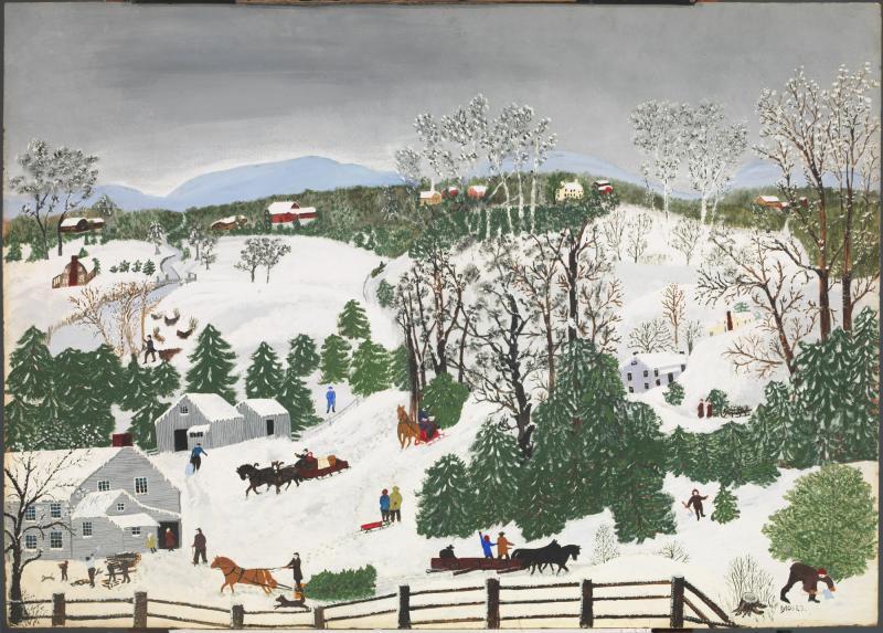 Grandma Moses, Out for Christmas Trees, 1946 Christmas, Anthem Classical Academy Christmas, Jennifer Martin