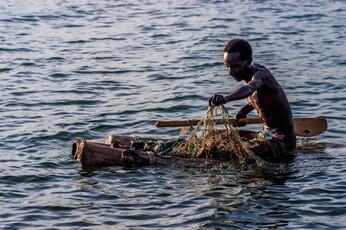 Fishing on the Turkana Lake