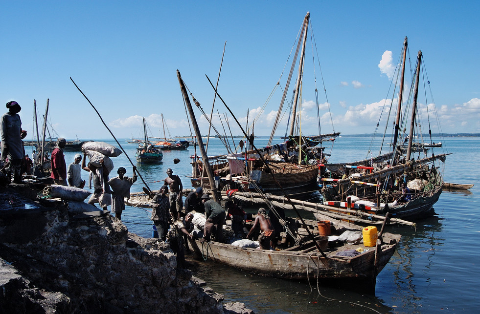 Dohw port at Unguja Island