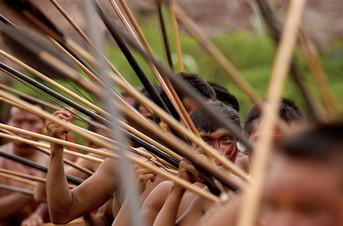 Yanomami warriors