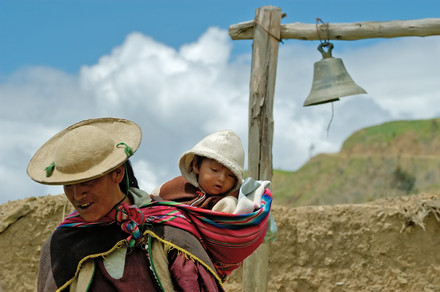 The bell of the school / Bolivia