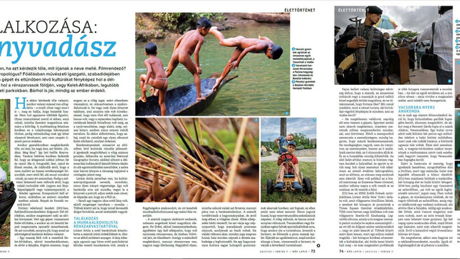 The Hungarian Nők Lapja magazine. About my work.