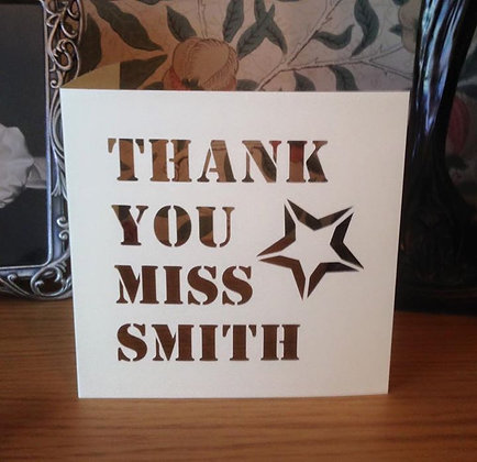 C27 - Thank You Personalised Card