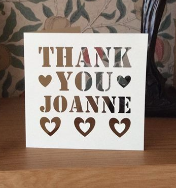 C29 - Thank You Personalised - Hearts