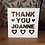 Thumbnail: C44 - Thank You Personalised - Hearts