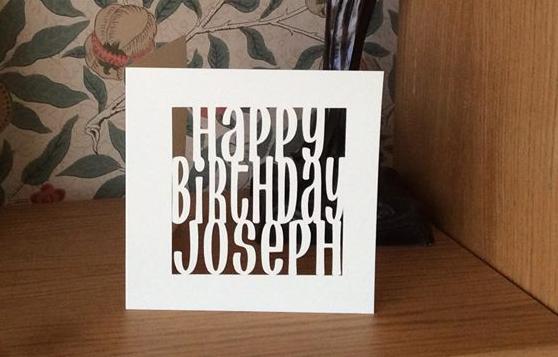 C50 - Happy Birthday Personalised Card
