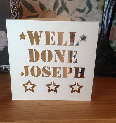 C28 - Well Done Personalised Card