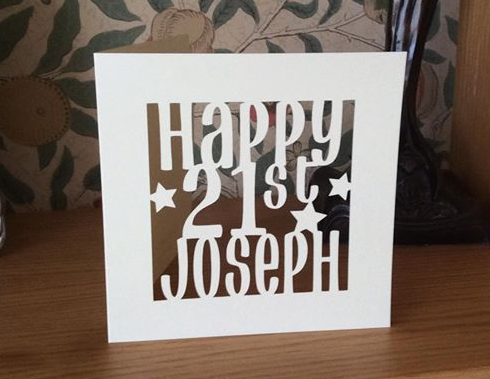 C48 - Happy 21st Personalised Card