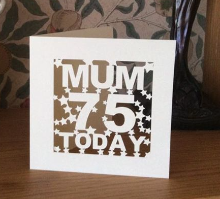 C59 - Mum 75 Today Personalised Card
