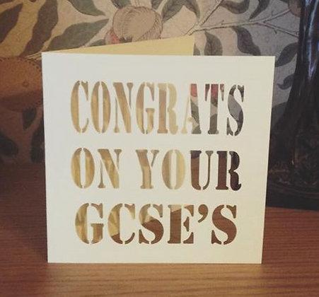 C35 - Congrats On Your GCSE's