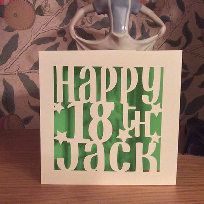 C48 - Happy 18th Personalised Card