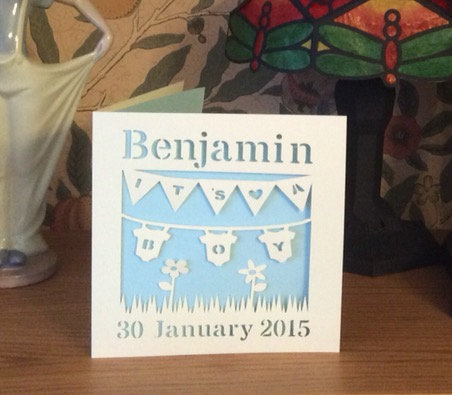 C57 - It's a Boy Personalised Card