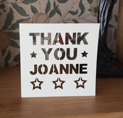 C41 - Thank You Personalised - Stars