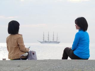 帆船を見つけて・・