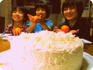 雪のケーキ♪