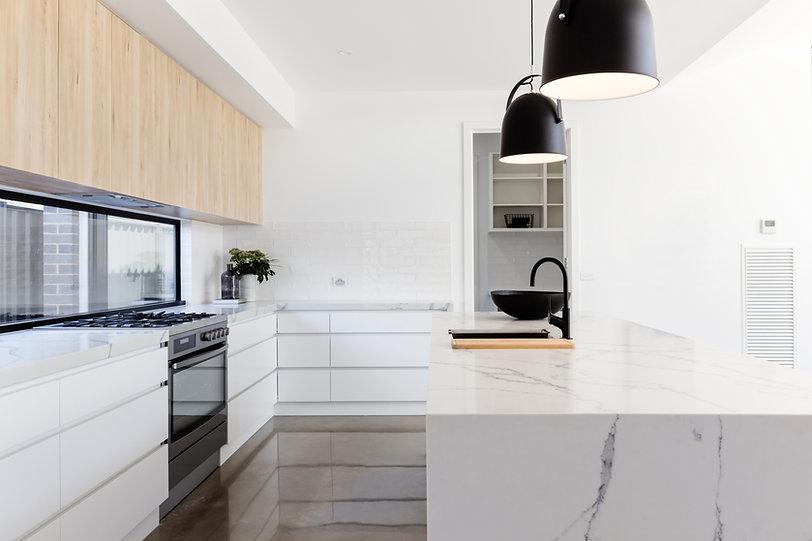 Marble kitchen benchtops