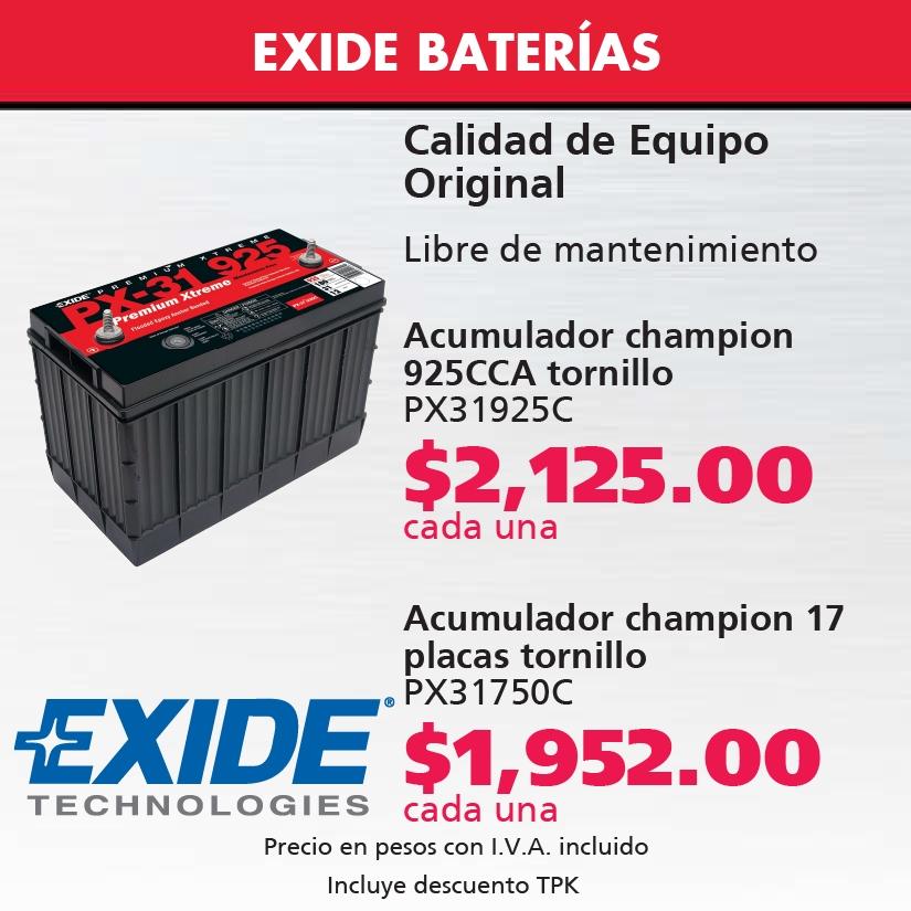 Baterías Exide